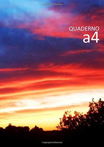 Quaderno A4: Quaderni fogli bianchi senza righe o quadretti - 21 x 29,7 cm - 100 pagine numerate con indice - Serie Diari delle nuvole A4 n. 9