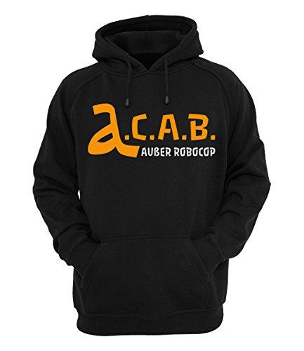 Alligatoah Hoody A.C.A.B. außer Robocop, Farbe:schwarz, Größe:S