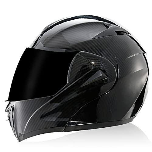 Casco de Motocicleta de Cara Completa Unisex para Adultos, Aprobado por Dot/ECE, Motocicleta, ciclomotor, Bicicleta de Calle, Casco de protección para Carreras H,L