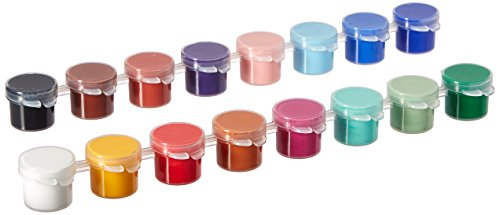Delta Creative Paint Pots Set with Paint and Brush for Outdoors, (16 Colors)