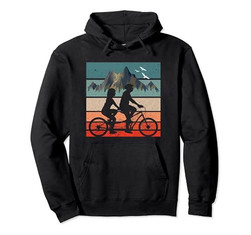 Radfahrer Radtour Tandemrad Tandem Fahrrad Pullover Hoodie