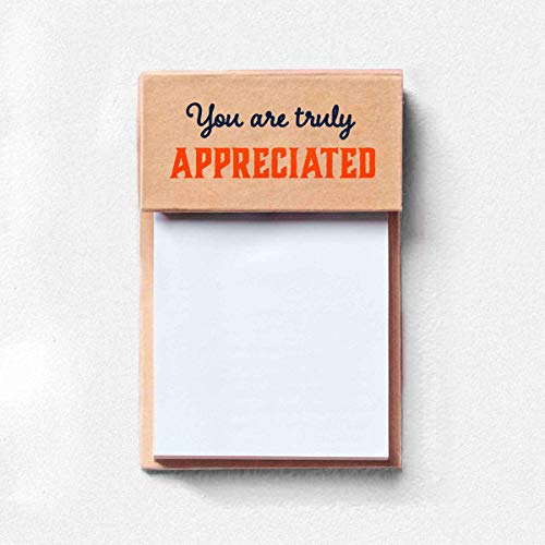 5 Pack of Sticky Note Pads and Colorful Sticky Tabs for Employees/Staff Appreciation/Recognition Gifts/Awards - 100 Sheet Pad of White Sticky Notes with 6 Colors of Sticky Tabs