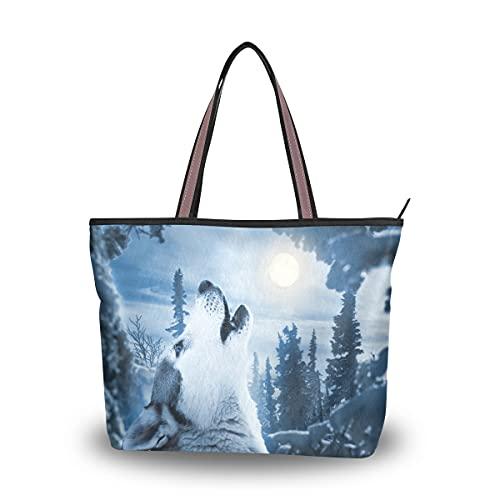 HMZXZ Ululante Luna Borse e Borsa per le Donne Tote Bag Grande Capacità Maniglia Superiore Shopper Borsa A Tracolla, Multicolore (Multicolore), Medium