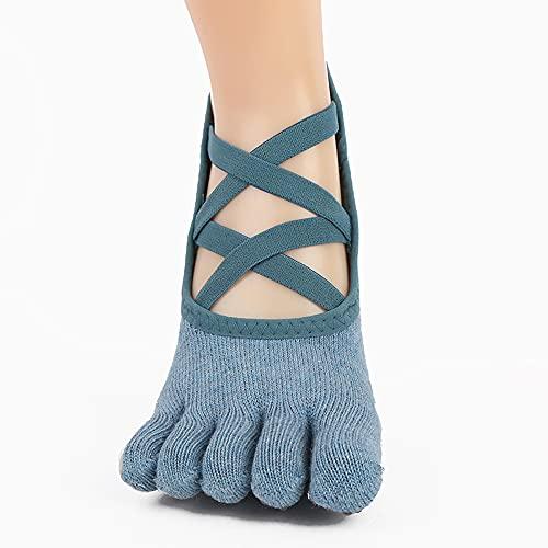 YAYS Calcetines de Yoga,Calcetines-Yoga Antideslizantes de Mujeres Deportivos para Ejercicio Interior,Calcetines Antideslizantes,Calcetines Antideslizantes de Agarre para Yoga,Calcetines de Pilates