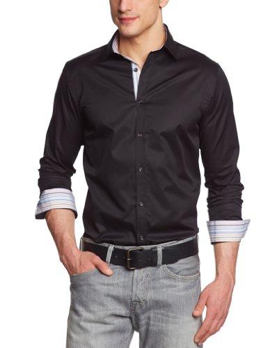 Jack & Jones Premium - Chemise - Homme - Noir (Black) - FR : Medium (Taille fabricant : Medium)