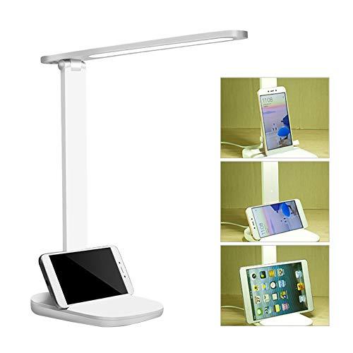 Lámpara Escritorio LED, Lámpara de Escritorio USB Recargable Lámparas de Mesa Control Táctil,Flexo de Escritorio 3 Modos y 3 Niveles de Brillo Flexo de Escritorio para Leer, Estudiar, Cuidado de ojos