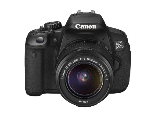 Canon EOS 650D SLR Digitalkamera (18 MP, 7,6cm (3 Zoll) Touch-Display, Full HD, Kit inkl. EF-S 18-55 IS II Objektiv) schwarz