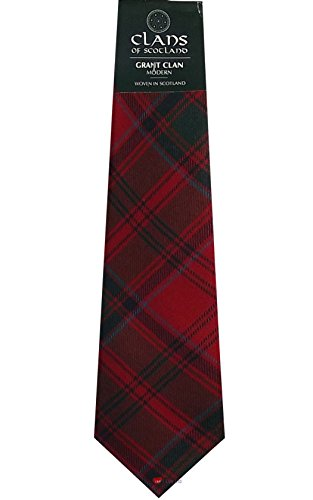 I Luv Ltd Grant Clan 100% Wool Scottish Tartan Tie