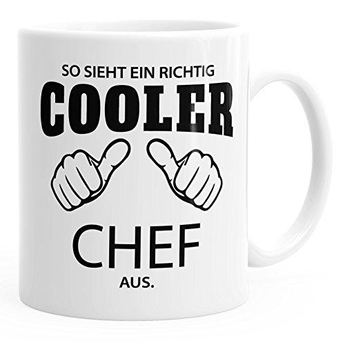 MoonWorks So Sieht EIN richtig EIN richtig Cooler Chef aus Tasse Berufe weiß Unisize