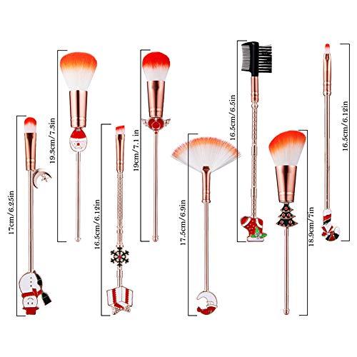 Schimer Maquillage Brush Set, 8pcs Maquillage Brush Cosmetic Brush Ombre À Paupières Visage Brush Eyeliner, Cosmetic Brush Kit Cosmétiques Kabuki Foundation Blush