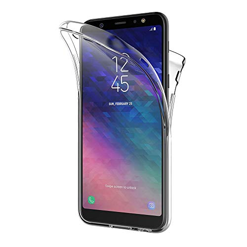 AICEK Coque Samsung Galaxy A6 Plus 2018, 360°Full Body Transparente Silicone Coque pour Samsung A6 Plus 2018 Housse Silicone Etui Case (6,0 Pouces)