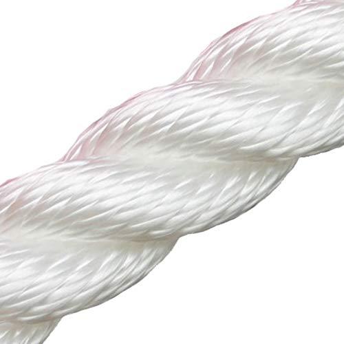 Handlaufseil Absperrseil 30 mm - 4fach geschlagen Farbe: weiß