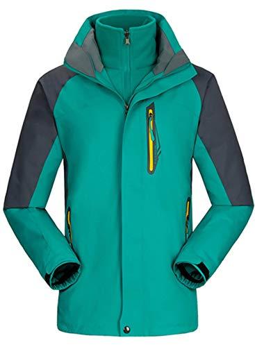 CORAFRITZ Damen Mountain Wasserdicht Skijacke Winddicht Regenjacke Winter Warm Schneemantel Gr. 52, grün