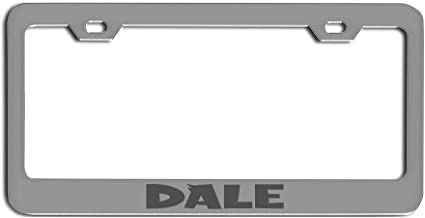 Dale Zinc Metal License Plate Frame tag Holder Laser Engraved Ancestry Family Name Patronymic Laser Engraved tag Holder