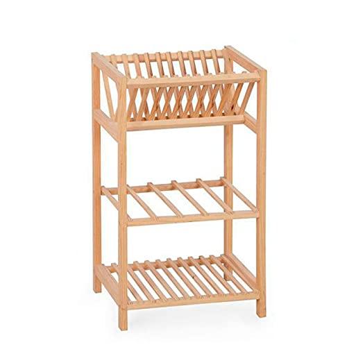 Acan Confortime - Estantería Multiusos de Madera, 3 Niveles, 56 x 33 x 25 cm, Soporte de 3 estantes, baldas para Cocina, ordenación, almacenaje de verdura, Fruta, con Instrucciones, fácil Montaje