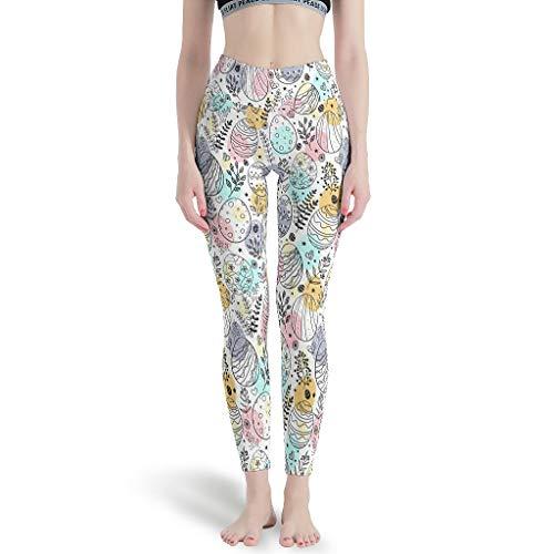 Huffle-Pickffle Pantalones de yoga divertidos, transpirables y cómodos, pantalones de ocio para Cardio White 4XL
