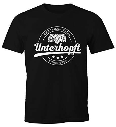 MoonWorks Chronisch Unterhopft Total Herren T-Shirt Since Ever Fun-Shirt schwarz 3XL