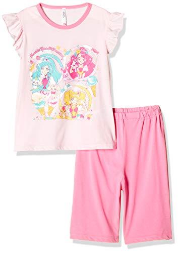 [バンダイ] パジャマ上下 (昇華転写プリントで鮮花やかなデザインの洗濯ネット付き) ヒーリングっどプリキュア 盛夏Tスーツ 522 2534937 ガールズ ピンク 日本 120cm (日本サイズ120 相当)