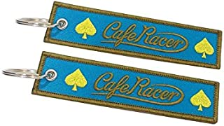 Cafe Racer Shield portachiavi doppia faccia