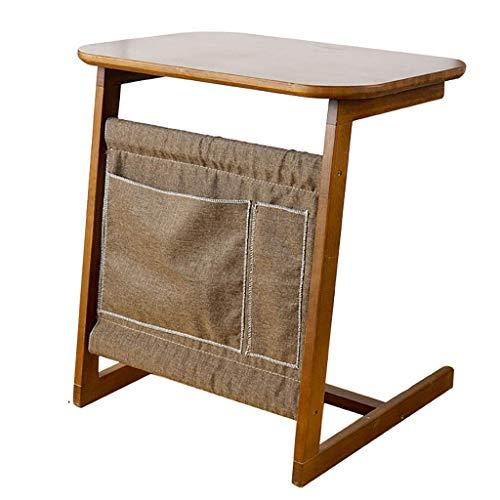 YLCJ Side tafels side cafe Bijzettafel in bamboe en metaal met tijdschriftenrek