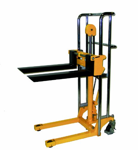 Wesco 272940 Value Lift with Handle, Polyurethane Wheels, 880-lb. Load Capacity, 47' Lift Height, 22-1/2' x 36'x 55'