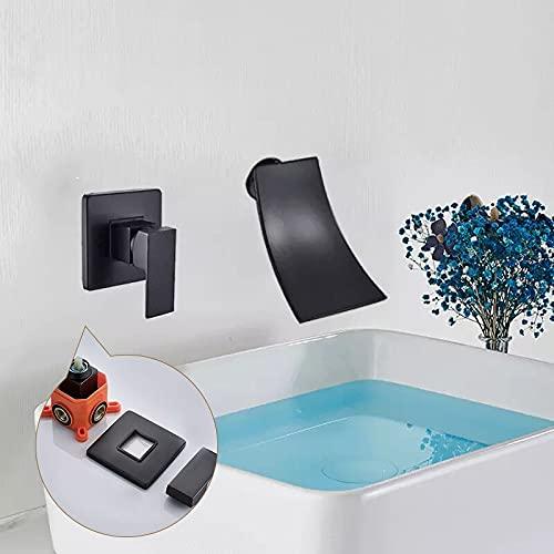 Grifo de la cocina Baño Cascada dorada Grifo de lavabo Lavabo Mezclador de lavabo Grifo de lavabo Grifo de baño Montaje en pared Grifo mezclador de caja empotrada