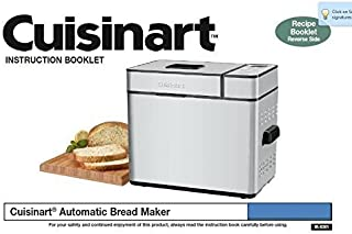 Cuisinart Bread Machine Maker Instruction Manual (Model: BMKR200) Reprint [Plastic Comb]