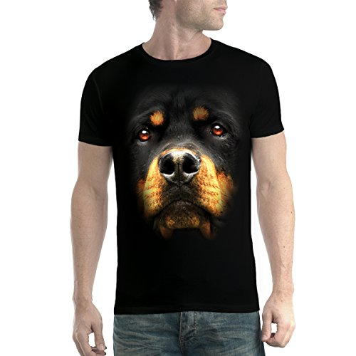 Rottweiler Perro Animales Hombre Camiseta Negro 5XL