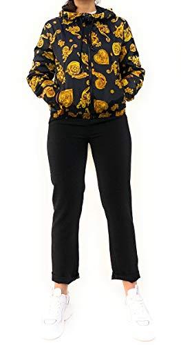 Versace Jeans Couture Jacke mit Kapuze. Zwei Taschen mit Reißverschluss auf der Vorderseite. Verschluss mit Reißverschluss.
