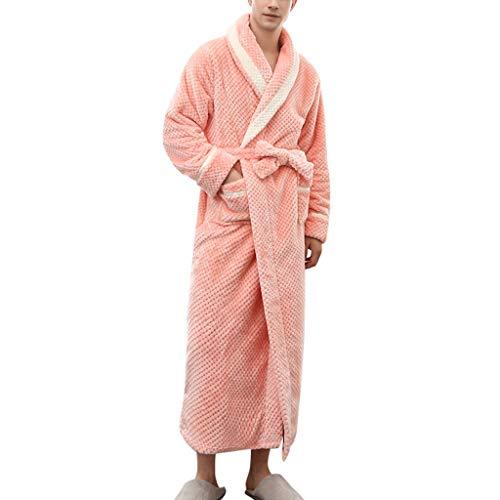 Binggong - Albornoz para sauna, supersuave, de felpa, para viajar, para hombre y mujer, pijama...