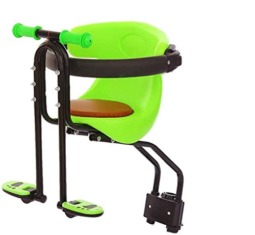 Sooiy Bicicleta Asiento para niños, Bicicletas Frontal Desmontable Asiento para niños con Pedal y Mango, Bicicleta de montaña niño Asiento Asiento de Bicicleta para niños Sr. Bicicletas,Rojo