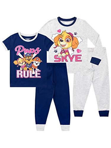 Paw Patrol Pijamas de Manga Corta para niñas Paquete de 2 La Patrulla Canina Ajuste Ceñido Multicolor 5-6 Años