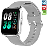 Smartwatch, KUNGIX Orologio Fitness Trakcer Smart Watch con monitor dell'ossigeno nel sangue(SpO2)...