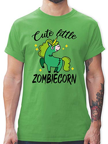 Halloween - Cute Little Zombiecorn - schwarz - L - Grün - Zombies - L190 - Tshirt Herren und Männer T-Shirts