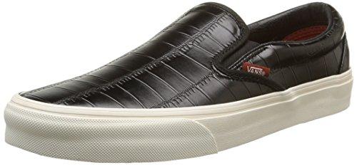 Vans Croc Leather Slip-On mens skateboarding-shoes VN-00MEFCQ_4.5 - black