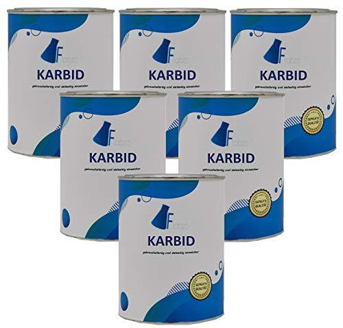 Flabzo 1,5 Kg Karbid nur 5{50181e60f6b73612ffc4ad30de34c5fec8a06a022c2786c3a6684ad73dfb73d0} Staubanteil langanhaltende Gas (Entwicklung in 7,5-15 K) Made by Buttersäure 24 (1,5 Kg)