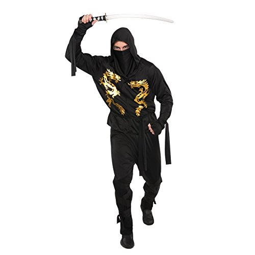 Kostüm Ninja Schwarz