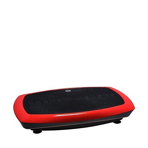 VibroSlim Radial 3D Vibrationsmaschine Plattform Power Fitnessmaschine - 3 Jahre Garantie; DVD, Poster und Armriemen inklusive - Rot