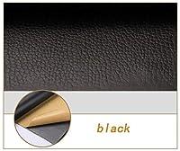貼るレザー合皮生地 メーターで販売ソファ、ソファー、家具、運転席用合成皮革テープ自己粘着革修復パッチ(複数色) (Color : Black, Size : 1.4×0.5m)