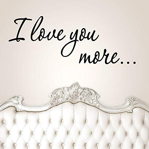 Ik hou van je meer citaten muurstickers voor kinderen kamers kinderkamer kamer huisdecoratie familie bruiloft liefde slogan stickers decoratie kunst