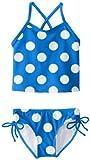 Kanu Surf Girls' Toddler Melanie Beach Sport 2-Pc Banded Tankini Swimsuit, Beachball Blue Dot, 3T