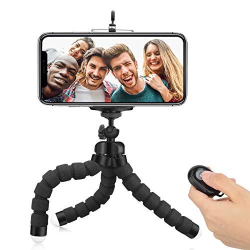 Telefon Stativhalter Mobile Selfie Stick Flexible Mini-Kamera Stativhalterung/Hülle Bluetooth-Fernbedienung & Telefonclip für iPhone, Android Samsung, Sportkamera GoPro