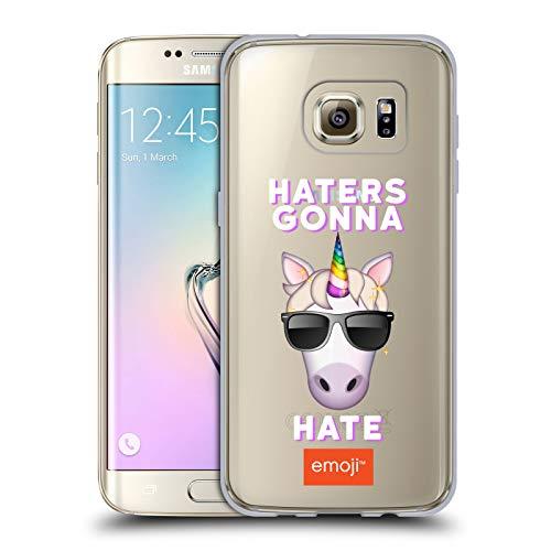 Head Case Designs Oficial Emoji® Sombrereros de Unicornio Logotipos Carcasa de Gel de Silicona Compatible con Samsung Galaxy S7 Edge