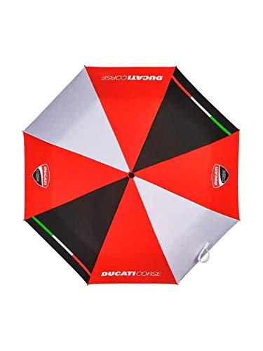 Whybee 2019 Ducati Corse Racing MotoGP Kompakter Kleiner Regenschirm, offizielles Team Merchandise