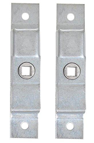 Unbekannt Zungenschloß 2 Stück 125 x 25 mm Vierkantschloss Anhängerverschluß Wohnwagen Schloss Silber Zungenschloss