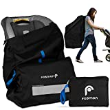 Fosmon Car Seat, Infant Carrier and Booster Travel Bag with Handles and Backpack Strips - Black