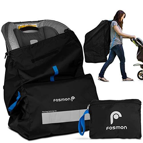 Fosmon Flugzeug Gate Check-In Transport Reise-Tasche/Rucksack/Bezug für Auto-Kindersitz[mit Schultergurt & Tragegriff|Wasserabweisend][Ultra-Leicht|Faltbar]Kinder Autositz/Babyschale Schutz - Schwarz