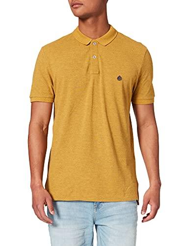 Springfield Polo overdyedLO PIQUÉ Efecto Overdyed Camiseta, Dorado/Mostaza, L para Hombre