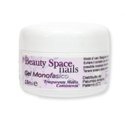 Beauty Space nails Gel UV Monofasico Trasparente 15 ml