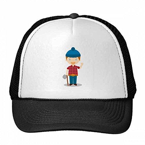 DIYthinker Blau-Hut-Hemd Kanada Cartoon Trucker Hat Baseballmütze Nylon Mütze Kühle Kind-Hut-Justierbare Kappe Geschenk Kinder